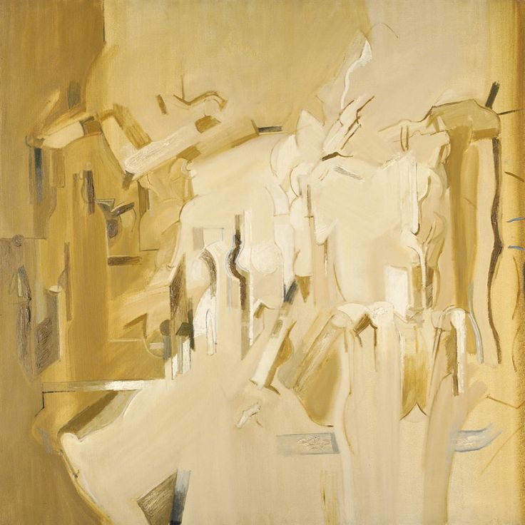 Jack Smith (British, 1928-2011), Figures and Objects, 1959-60. Oil on canvas, 121.9 x 121.2 cm.