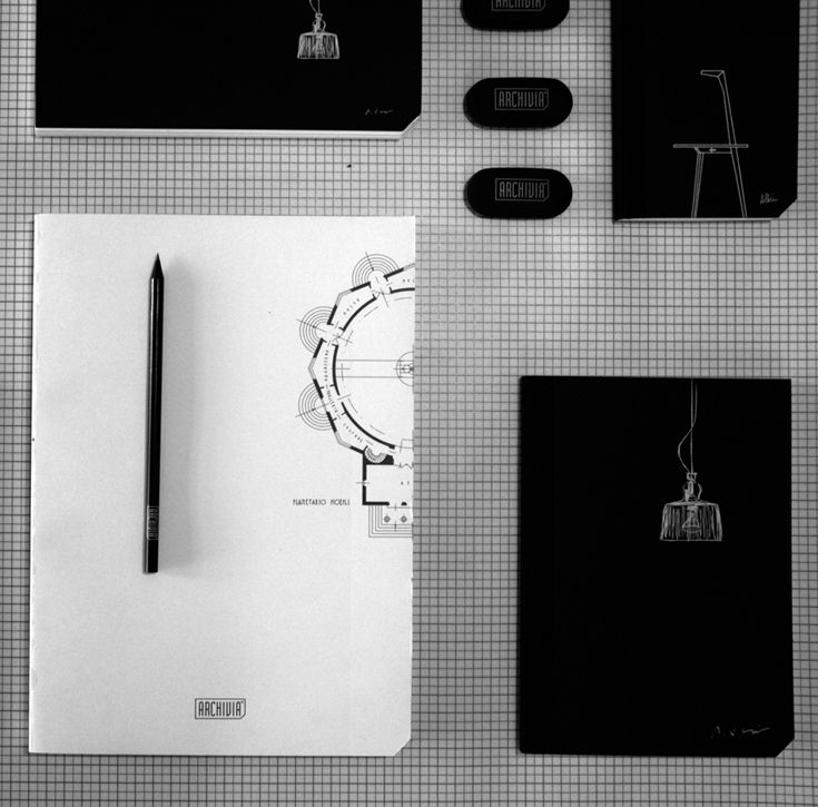 Stationery for archilovers. // @ARCHIVIA dedica una linea di taccuini, agende, penne e astucci al tema della città