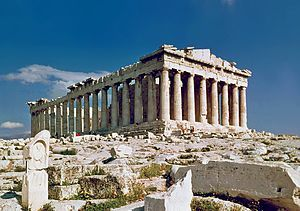 The Parthenon in Athens.jpg Construction began in 447 BC ...(and) completed in 438 BC... It is the most important surviving building of Classical Greece, generally considered the zenith of the Doric order.