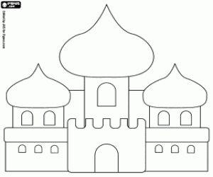 Colorear El palacio de Aladín y la princesa