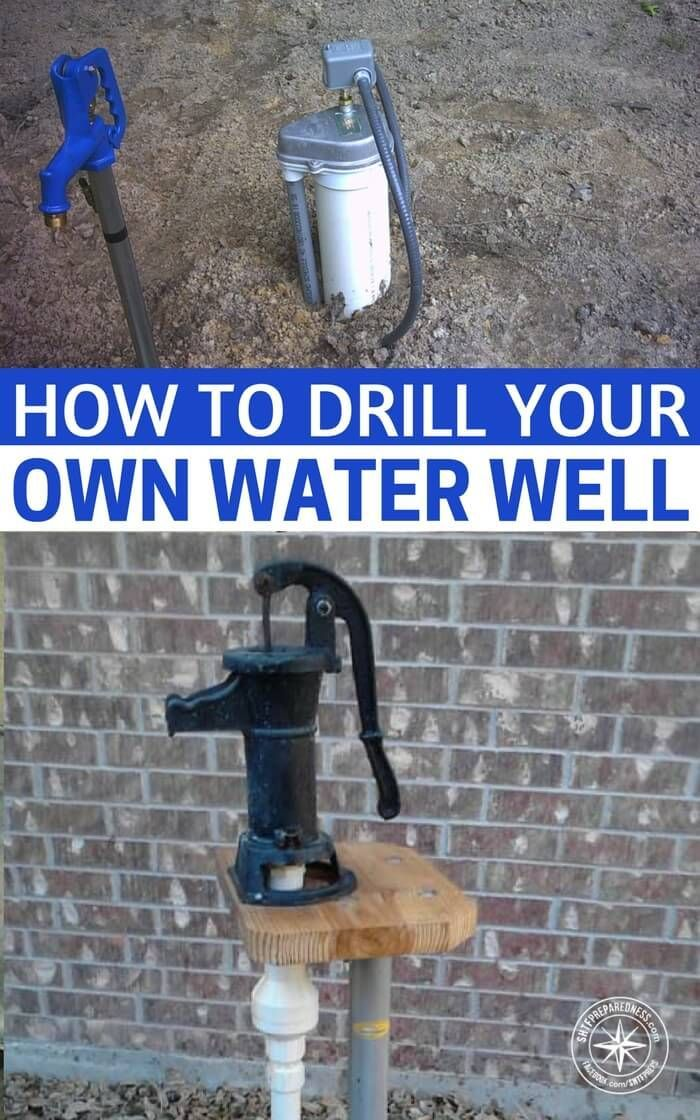 How To Drill Your Own Water Well - The water well drilling methods described here work well in digging/drilling through dirt, and clay, including really hard clay. They will not work if you need to drill through rock but, if the area you live in is flat or relatively flat, it is definitely worth a try. Many folks think they have to dig or drill their well into an aquifer. For irrigation and lawn watering, reaching an aquifer isn't necessary. #homestead #diywell #waterwell