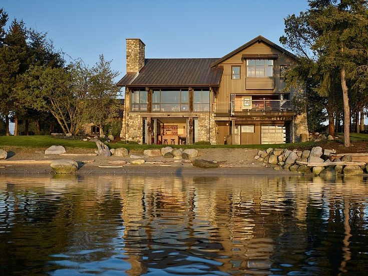 Graham Baba Architects Residence Seaside House With Rustic Elements in Washington by Graham Baba Architects