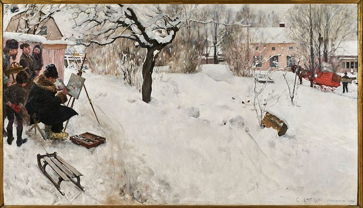 Carl Larsson - Open-Air Painter. Winter-Motif from Åsögatan 145, Stockholm - Google Art Project (Nationalmuseum, Stockholm)
