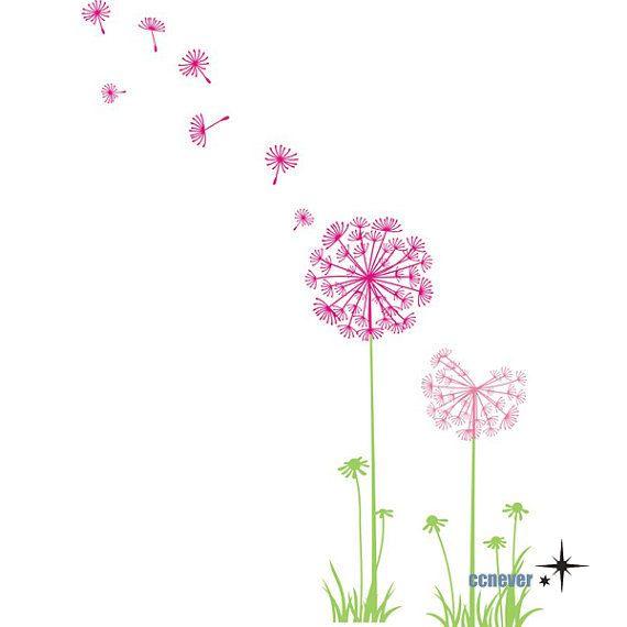 1000 images about dandelion on pinterest vinyls vinyl for Dandelion mural