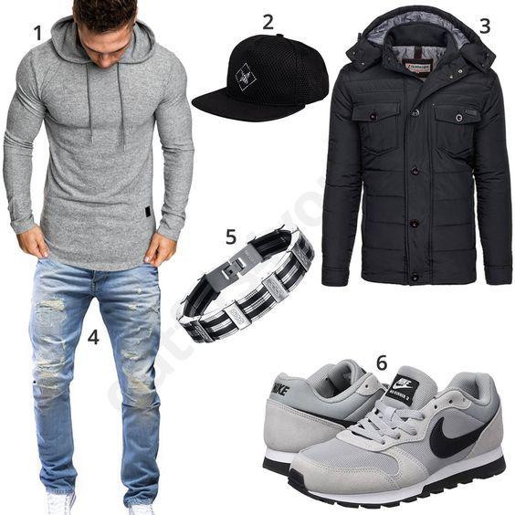 Sportliches Herrenoutfit mit Cap und Nikes – mila spring