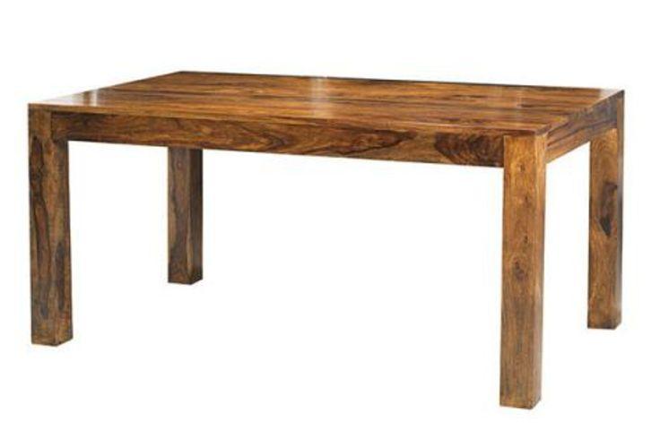 Jídelní stůl z masivu MAKASSAR GLOSS 140. Masivní nabytek.