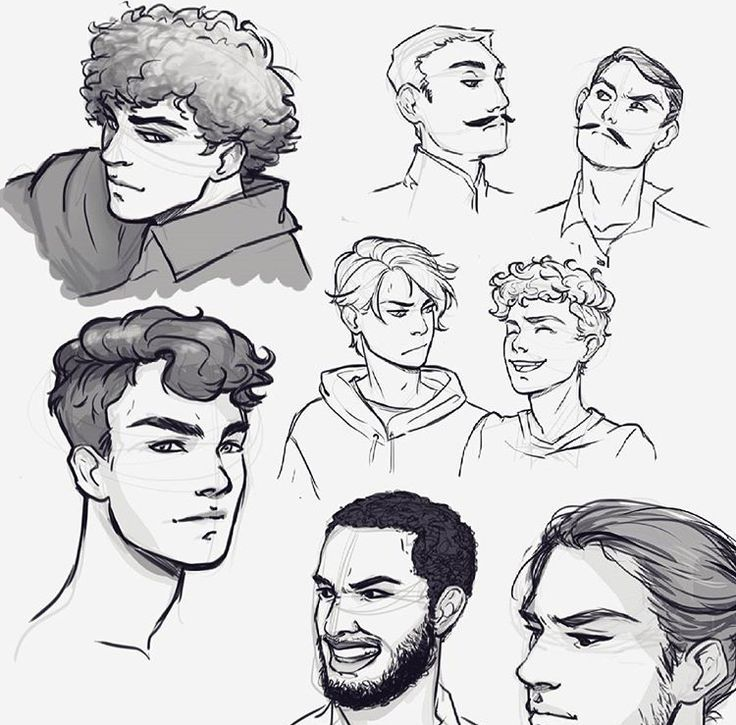 Curlyhairstylesdibujo Boy Hair Drawing How To Draw Hair Cartoon Hair