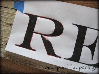 Homespun Happenings: I Made a Sign...  Clearly I will not be writing 'Rest with the Lord' but still a great technique.