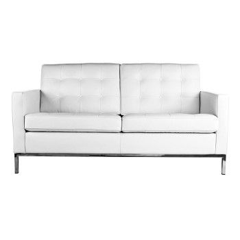 Florence Knoll 2 Seater Sofa   White