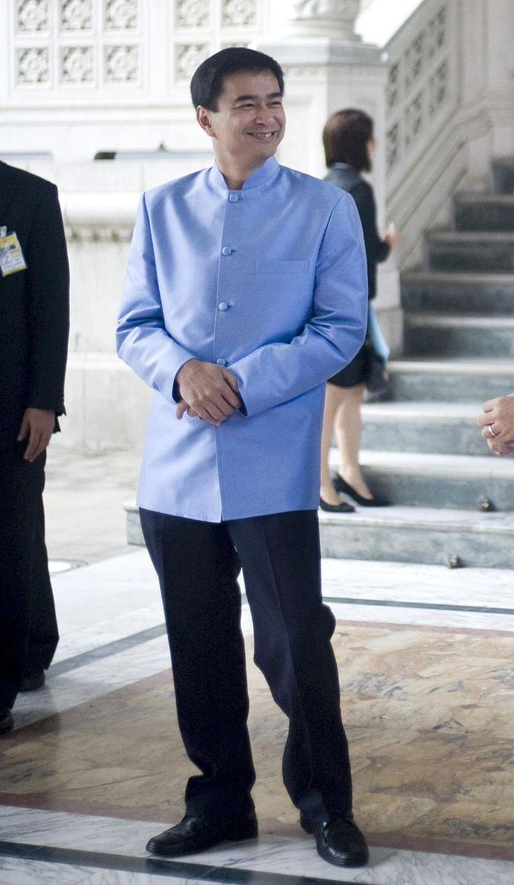 File-Abhisit Vejjajiva 2 October 2009 cropped - Formal Thai national costume - The formal Thai national costume, known in Thai as ชุดไทยพระราชนิยม (rtgs: chut thai phra ratcha niyom, literally Thai dress of royal endorsement), includes several sets of clothing, or chut thai, designed for use as national costume in formal occasions. Although described and intended for use as national costume, they are of relatively modern origins, having been conceived in the second half of the twentieth…