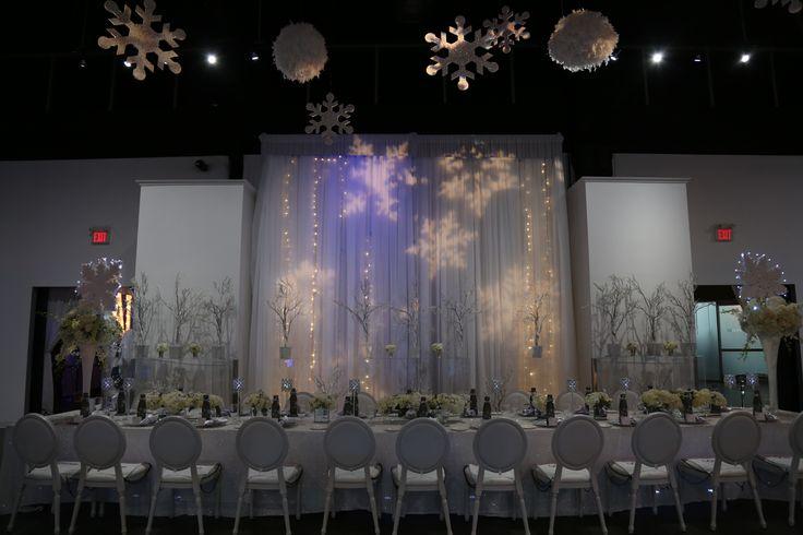 Head Table & Backdrop. Winterwonderland theme