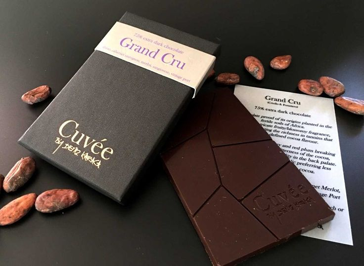 Grand Cru is made from two of the three varieties of cacao/cocoa beans: Criollo and Forastero.  Forastero is the most widely used, comprising 80-90% of the world production of cocoa. Cocoa beans of the Criollo variety are rarer and considered a delicacy.  Grand Cru is a chocolate proud of its origins, planted in the fertile soils of Africa. Showing intricate fruity/blossomy fragrance, already indicating the richness in tannins that gives it its defined cocoa flavour. Net Weight: 70g