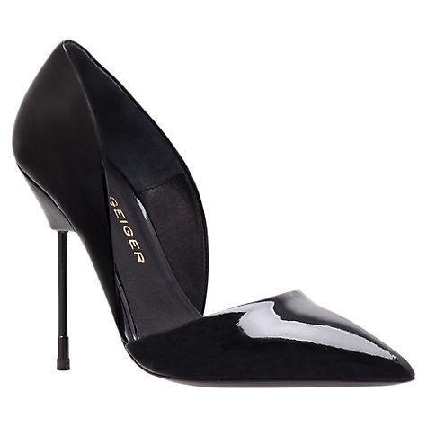 Buy Kurt Geiger Bond Stiletto Court Shoes, Black Online at johnlewis.com