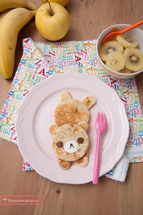 Tortitas americanas de ositos, ¡un desayuno divertido!