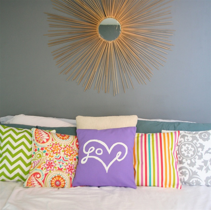 Love Print Pillow Cover in Purple by bexcaliber on Etsy bright summer colors & 233 best p i l l o w s . images on Pinterest | Cushions ... pillowsntoast.com