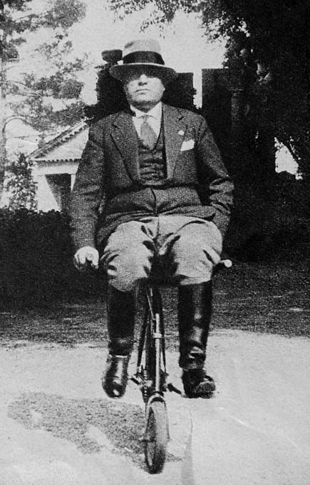 Benito Mussolini on a unicycle. Your argument is invalid now.