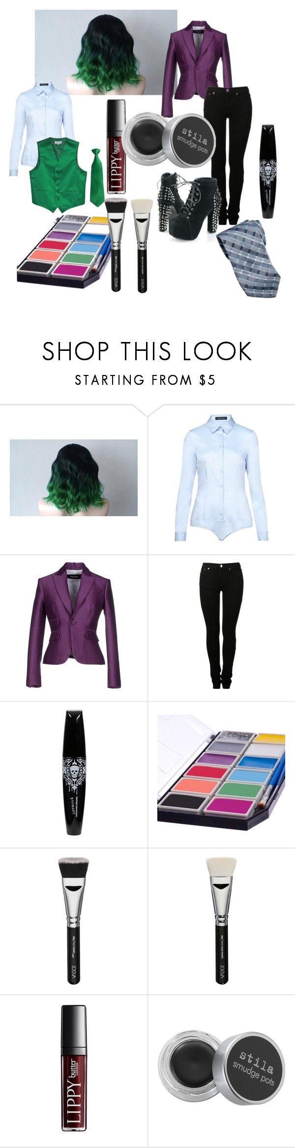"""Female Joker"" by michaela-388 on Polyvore featuring Hallhuber, Dsquared2, MM6 Maison Margiela, ZOEVA and Stila"