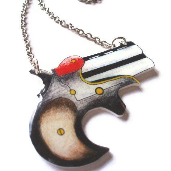 Halskette Tattoo Style Gun
