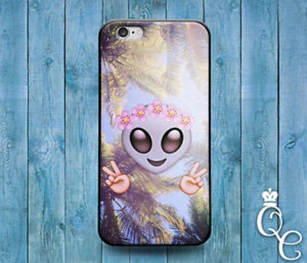 Funny Peace Out Emoji Palm Tree Custom Cute Case iPod iPhone 4 4s 5 5s 5c 6 Plus
