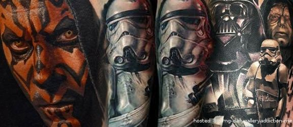 Check out these amazing Star Wars tattoos that every fan need to check out! What do you think about these awesome tattoos!! | From dailygalleryaddiction
