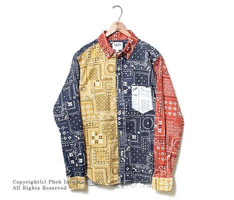 フェローズ/PHERROW'S(PHERROWS) バンダナ柄クレイジーボタンダウンシャツ【13W-PBD3】