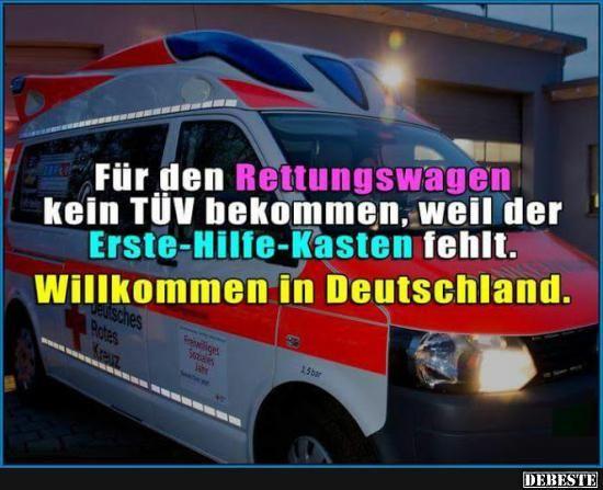 Für den Rettungswagen kein TÜV bekommen.. | Lustige Bilder, Sprüche, Witze, echt lustig