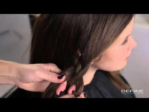 ▶ How to: Oppsatt hår med flette (hairdo with braid) - YouTube
