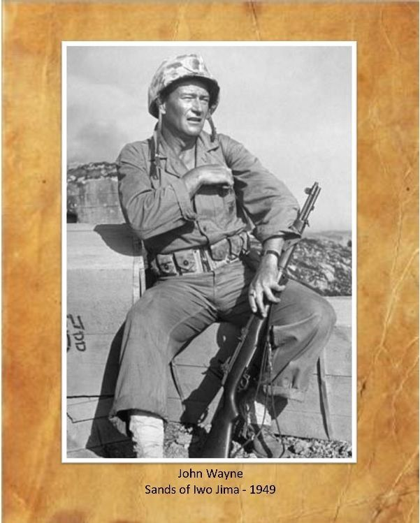 "John Wayne, Sands of Iwo Jima, 8""X10"" Photo 