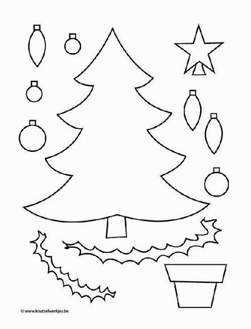 Adornos de navidad en fieltro para un arbolito de pared