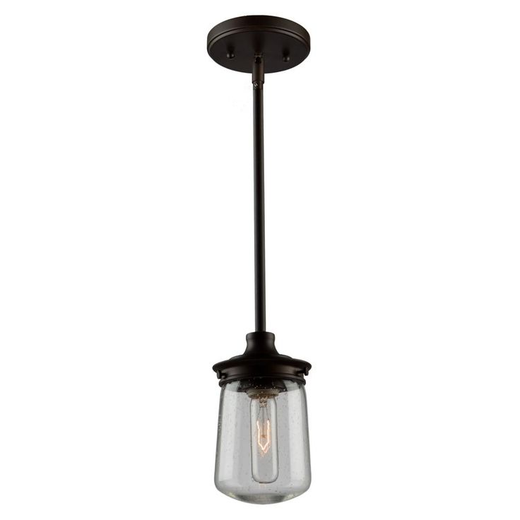 Nostalgia 1 Light Oil Rubbed Bronze Pendant : AC10701OB | Living Lighting Oakville