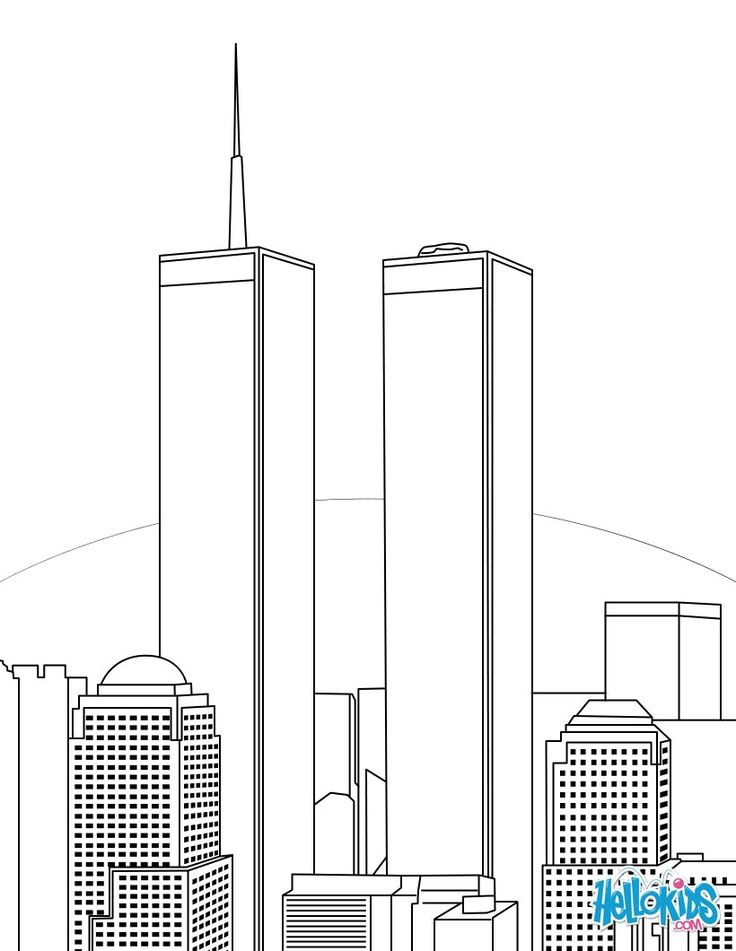 twin towers coloring page free printable patriot day coloring pages for toddlers preschool or kindergarten children enjoy this twin towers coloring