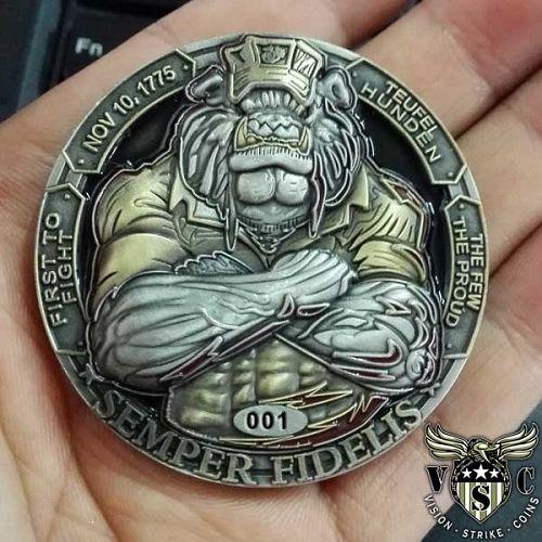 USMC Bulldog Semper Fidelis Coin ™ $17.75