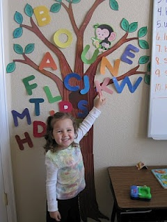 FREE downloadable letters to print and put up on tree after each letter has been…