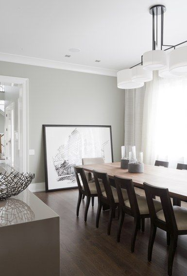 "Don't use flat paint. The walls are painted Sherwin Williams Repose Gray with a low-luster eggshell finish. ""It has a little sheen to it, which gives the…"