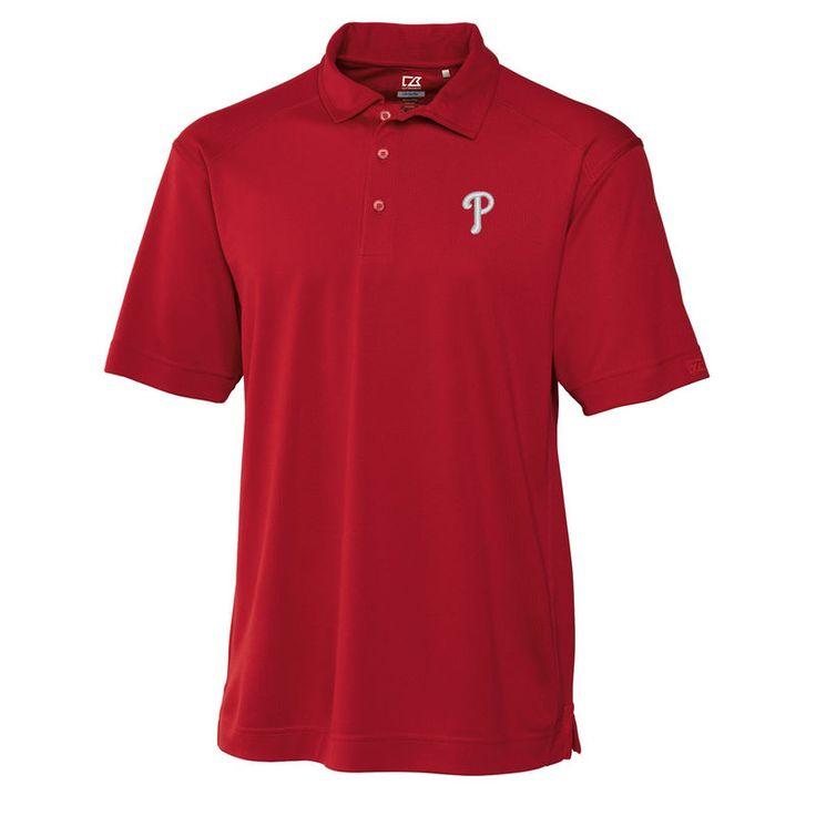 Philadelphia Phillies Cutter & Buck Big & Tall DryTec Genre Polo - Red