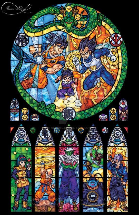 Vitraux Dragon Ball Z Dans une église en France ça serai magique