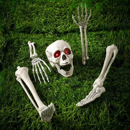 buried alive blinking skeleton garden stakes - Halloween Garden Stakes