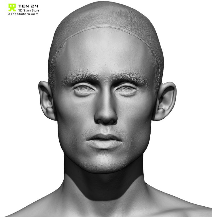 Male 25 Head Scan Cleaned