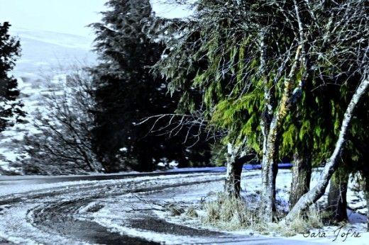 Serra da Estrela road, covered by snow (2008)