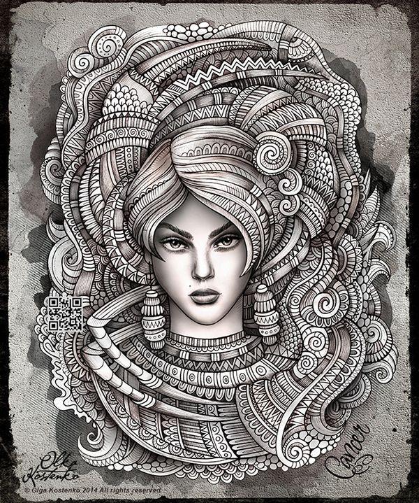 Zodiac Cancer by Olka Kostenko