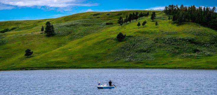 Elkwater Lake, Cypress Hills Interprovincial Park, Alberta.