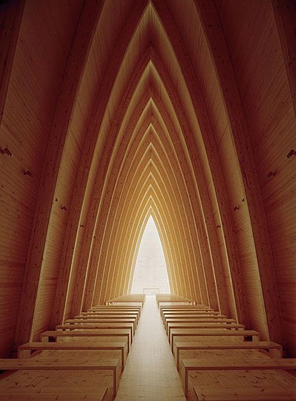 St. Henry Ecumenical Chapel in Finland, designed by Matti Sanaksenaho.