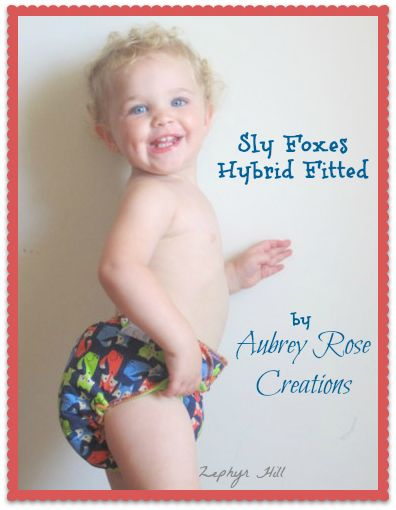 We love our Aubrey Rose Cloth Diapers!  A Foxy Fitted Diaper from Aubrey Rose