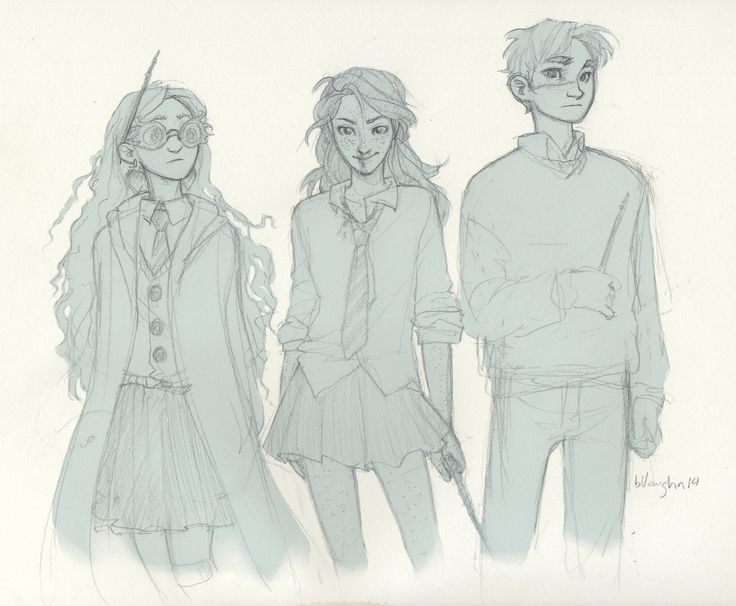 """""""Gold and Silver"""" - this is Harry Potter's """"silver"""" trio, Luna Lovegood, Ginny Weasley, Neville Longbottom."""