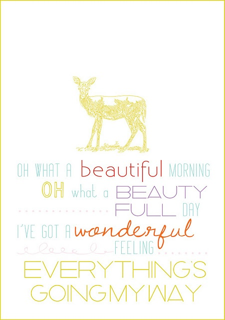 Oh What a Beautiful Morning printable