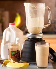 Post Workout Recovery Shake- 4 oz skim milk*  4 oz water*  1 scoop chocolate whey protein powder  1 honey  1/2 Banana  1 tablespoon peanut butter  1 tablespoon oats