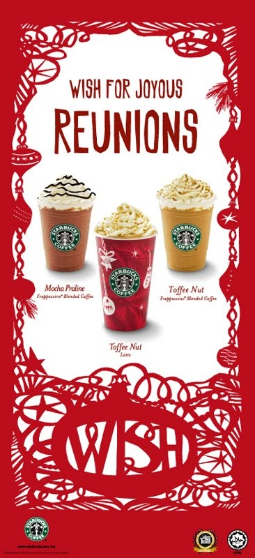 STARBUCKS Christmas Campaign 2009 toffe nut frappe!? need to try