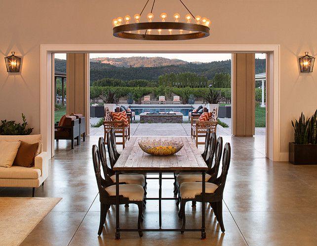 dining room chandelier is from restoration hardwar pinteres