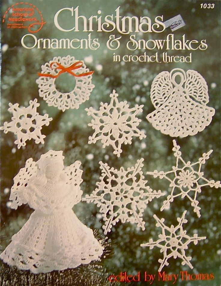 free crocheted ornament cover patterns | CHRISTMAS Ornaments and Snowflakes Crochet Thread Pattern - ASN ...
