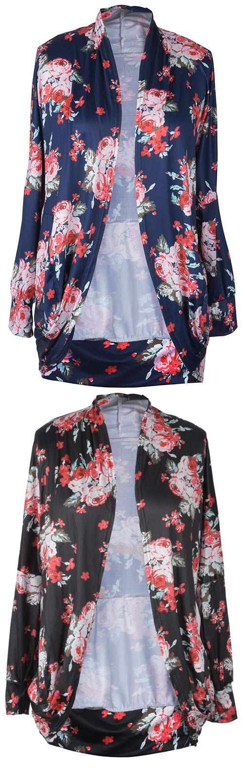 Get the floral with $17.99 Only! This wrap style cardigan is a best outfit you are searching. Pair it with a tank top! Collect it Only at Cupshe.com